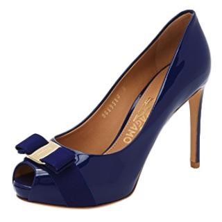 Salvatore Ferragamo Vara Bow Patent Peep-Toe Pumps