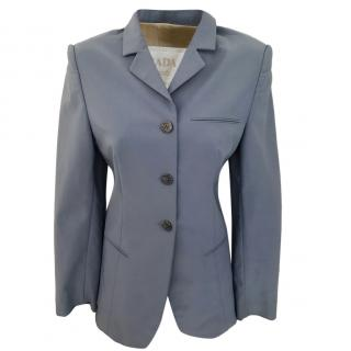 Prada Blue Tailored Blazer
