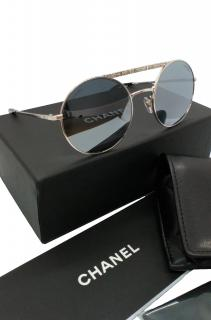 Chanel Round Mirrored Sunglasses