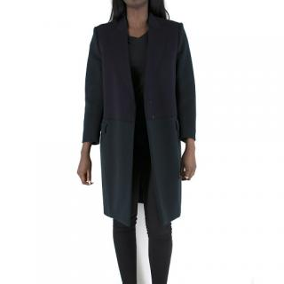Celine Colour Block Wool & Cashmere Blend Coat