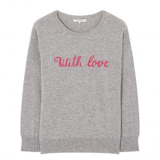 Gerard Darel Grey Knit With Love Sweater