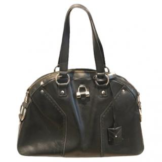 Yves Saint Laurent Black Leather Muse Tote Bag