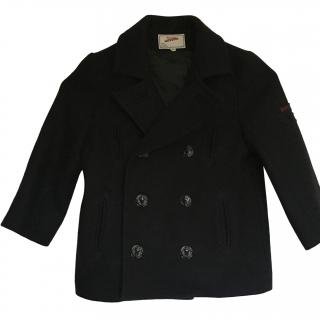 John Paul Gaultier Navy Wool Double Breasted Coat