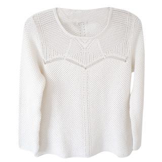 Pablo de Gerard Darel ecru knit jumper