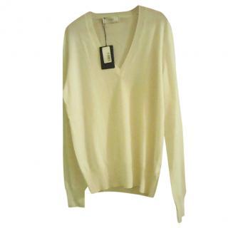 Pringle of Scotland Chalk Cashmere Sweater
