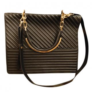 Max Mara Leather Piped Satchel Bag