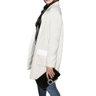 Chanel Paris-Bombay Metallic Tweed Silk & Mohair Blend Coat