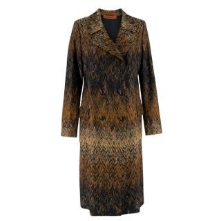 Missoni Wavy Knit Gold Long Coat