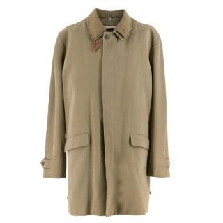 Loro Piana Men's Silk blend Single Breasted Coat