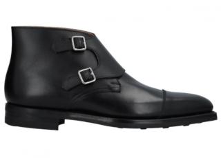Crockett & Jones Double Buckle Leather Boots