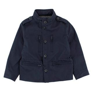 Bonpoint Boy's Navy Button-up Jacket