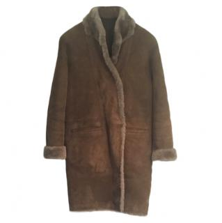 Sprung Feres Oversize Shearling Coat