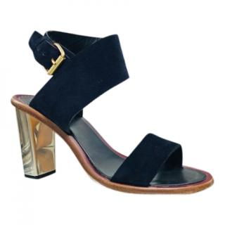 Celine Navy Suede Sandals