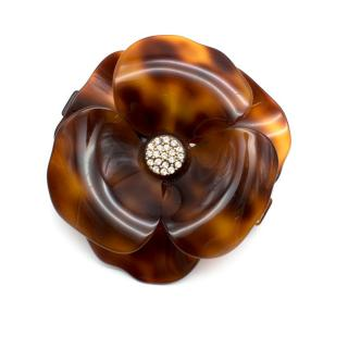 Alexandre de Paris Camila Tortoiseshell Flower Barrette