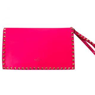 Valentino Garavani Pink Rockstud Clutch