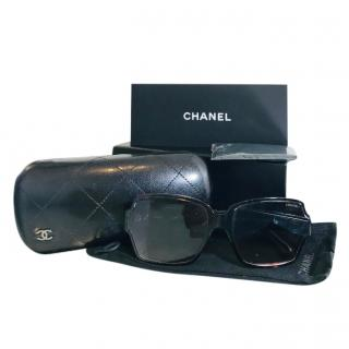 Chanel dark tortoiseshell square sunglasses