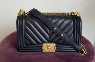 Chanel Medium Chevron Boy Flap Bag