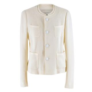Joseph Textured Knit Cream Jacket
