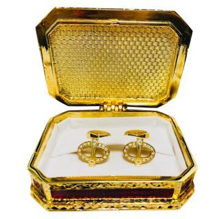 Faberge 18kt Yellow Gold 0.42ct Diamond Cufflinks