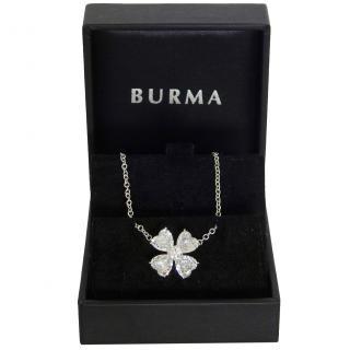 Burma Faux Diamond Heart Pendant Necklace