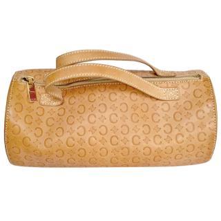 Celine Tan Monogram Bowling Bag