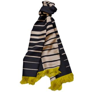 Bottega Veneta silk striped scarf.
