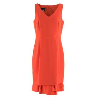 As (ruth r) Moschino Boutique Orange Sleeveless Dress