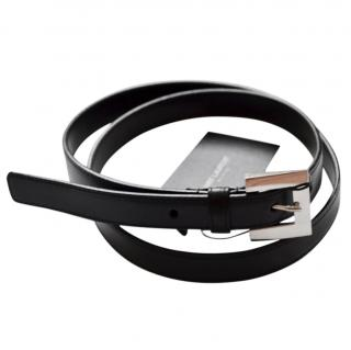 Saint Laurent black leather belt