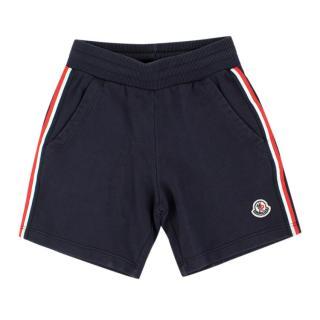 Moncler Boys 5Y Navy Cotton Shorts
