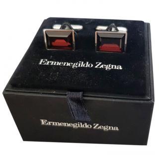Ermenegildo Zegna Square Rhodium Cufflinks