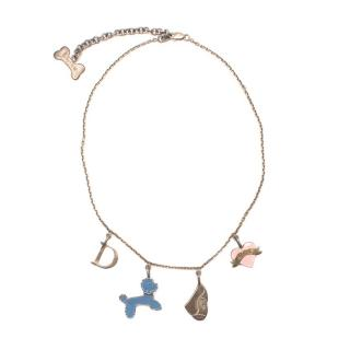 Baby Dior Silver Charm Necklace