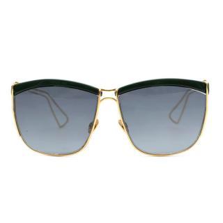 Christian Dior So Electric Gold & Green Square Sunglasses