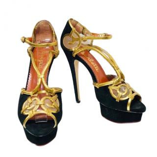 Charlotte Olympia Black Suede I Dreamed Of Africa Pumps