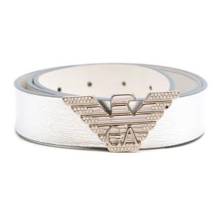 Emporio Armani Metallic Bird Buckle Belt