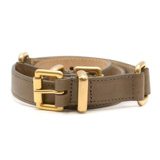 Etro Taupe Double Buckle Waist Belt
