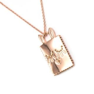 Marc by Marc Jacobs Workwear Crystal Embellished Rabbit Tag Necklace