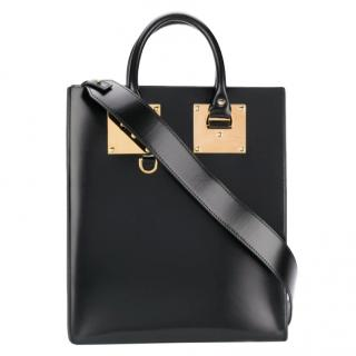 Sophie Hulme Albion Large Black Leather Tote
