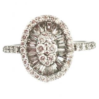 Bespoke 1ct Diamond Cluster Halo Ring