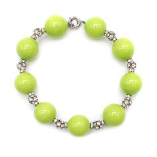 Bespoke Green Crystal Embellished Necklace