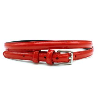 Phi Women's Red Patent Leather Belt