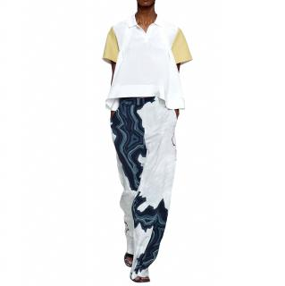 3.1 Phillip Lim Geode Silk Abstract Print Trousers
