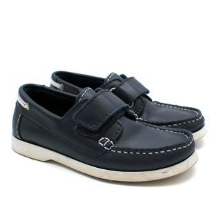 Jacadi Boys Navy Leather Deck Shoes