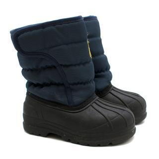 Polo Ralph Lauren Boys Navy Hamilten II Quilted EZ Boots