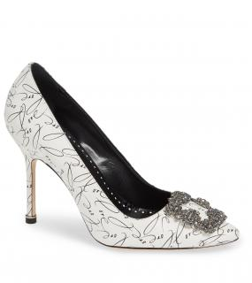 Manolo Blahnik Love Print Hangisi 70mm Pumps