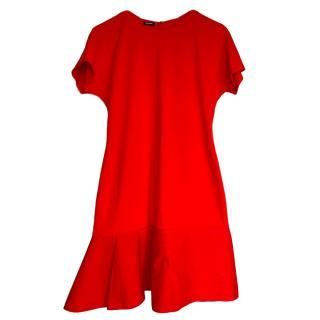 Jil Sander Red Mini Swing Dress