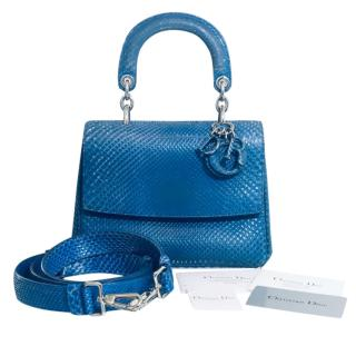 Dior Cruise Collection Blue Python Be Dior bag