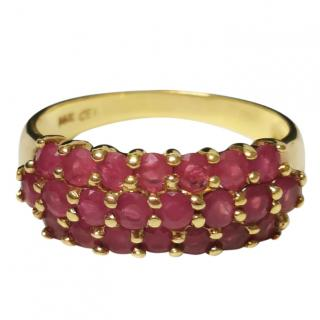 Cellini 14ct Yellow Gold 0.05pt Ruby Cluster Ring