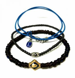 Luis Morais Set of 3 Handmade Beetle Bracelets