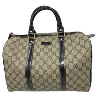 Gucci Monogram Canvas Patent Trim Boston Bag