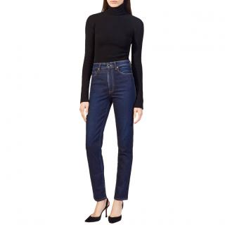 Khaite Vanessa Blue Slim Hight-rise Jeans